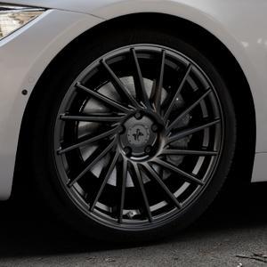 KESKIN KT17 MATT BLACK PAINTED Felge mit Reifen schwarz in 19Zoll Winterfelge Alufelge auf silbernem BMW 420d Typ F32 (Coupé) 428i xDrive 435i 430d 420i 435d 425d F36 (Gran Coupe) 418d 418i 430i 440i ⬇️ mit 15mm Tieferlegung ⬇️ Industriehalle 1 Thumbnail