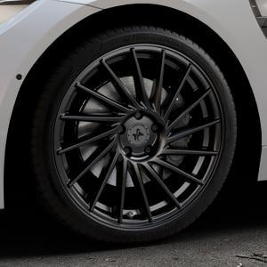 KESKIN KT17 MATT BLACK PAINTED Felge mit Reifen schwarz in 19Zoll Winterfelge Alufelge auf silbernem BMW M4 Typ F83 (Cabrio) 3,0l 317kW (431 PS) ⬇️ mit 15mm Tieferlegung ⬇️ Industriehalle 1 Thumbnail