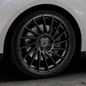 KESKIN KT17 MATT BLACK PAINTED Felge mit Reifen schwarz in 19Zoll Winterfelge Alufelge auf silbernem Ford C-Max II Typ DXA (10->) ⬇️ mit 15mm Tieferlegung ⬇️ Industriehalle 1 Thumbnail