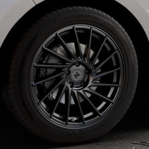 KESKIN KT17 MATT BLACK PAINTED Felge mit Reifen schwarz in 19Zoll Winterfelge Alufelge auf silbernem Ford Edge Typ SBF ⬇️ mit 15mm Tieferlegung ⬇️ Industriehalle 1 Thumbnail