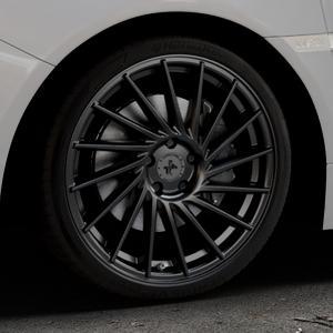 KESKIN KT17 MATT BLACK PAINTED Felge mit Reifen schwarz in 19Zoll Winterfelge Alufelge auf silbernem Subaru WRX Typ V1 2,5l STI AWD 221kW (300 PS) ⬇️ mit 15mm Tieferlegung ⬇️ Industriehalle 1 Thumbnail