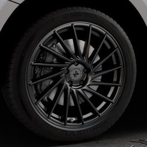 KESKIN KT17 MATT BLACK PAINTED Felge mit Reifen schwarz in 20Zoll Winterfelge Alufelge auf silbernem Audi Q5 I Typ 8R ⬇️ mit 15mm Tieferlegung ⬇️ Industriehalle 1 Thumbnail