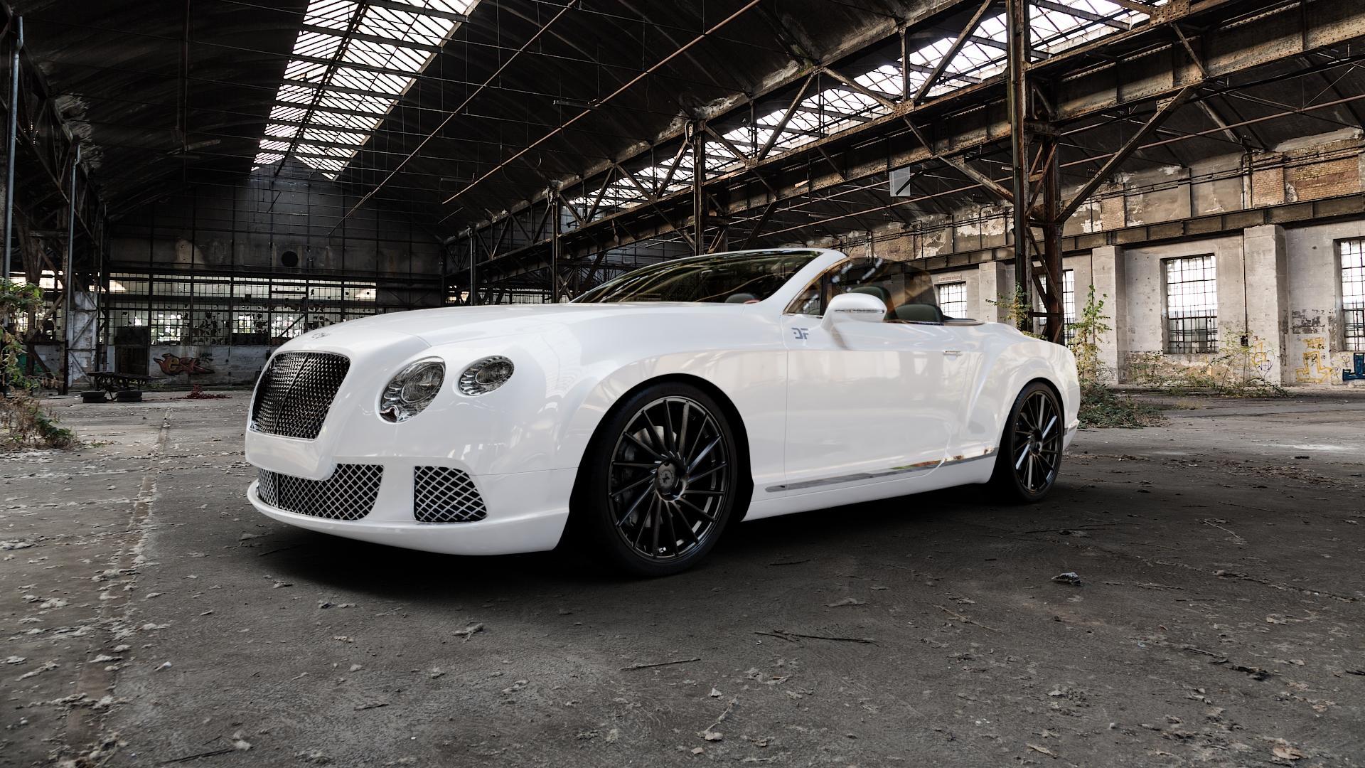 KESKIN KT17 MATT BLACK PAINTED Felge mit Reifen schwarz in 21Zoll Winterfelge Alufelge auf weissem Bentley Continental Flying Spur GT GTC ⬇️ mit 15mm Tieferlegung ⬇️ Industriehalle 1 Camera_000