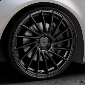 KESKIN KT17 MATT BLACK PAINTED Felge mit Reifen schwarz in 22Zoll Winterfelge Alufelge auf silbernem Audi A6 Typ 4G/C7 (Avant) ⬇️ mit 15mm Tieferlegung ⬇️ Industriehalle 1 Thumbnail