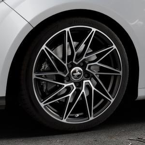 KESKIN KT20 BLACK FRONT POLISH Felge mit Reifen schwarz in 18Zoll Winterfelge Alufelge auf silbernem Ford Focus III Typ DYB (Schrägheck) (Stufenheck) Facelift ⬇️ mit 15mm Tieferlegung ⬇️ Industriehalle 1 Thumbnail