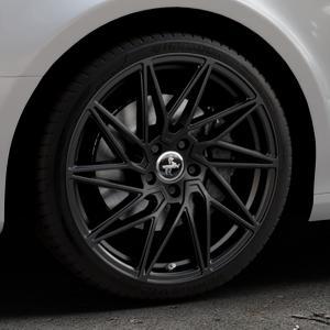 KESKIN KT20 BLACK PAINTED Felge mit Reifen schwarz in 19Zoll Winterfelge Alufelge auf silbernem Audi A4 Typ 8K2/B8 (Limousine) ⬇️ mit 15mm Tieferlegung ⬇️ Industriehalle 1 Thumbnail