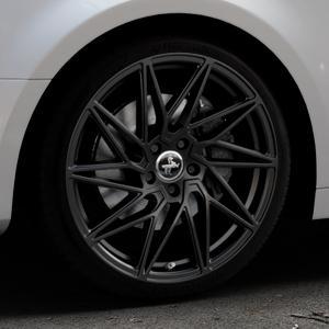 KESKIN KT20 BLACK PAINTED Felge mit Reifen schwarz in 19Zoll Winterfelge Alufelge auf silbernem Audi A4 Typ B9 (Limousine) ⬇️ mit 15mm Tieferlegung ⬇️ Industriehalle 1 Thumbnail
