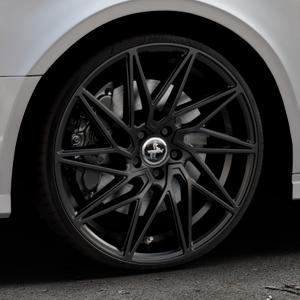 KESKIN KT20 BLACK PAINTED Felge mit Reifen schwarz in 20Zoll Winterfelge Alufelge auf silbernem Audi A3 Typ 8V (Limousine) Facelift ⬇️ mit 15mm Tieferlegung ⬇️ Industriehalle 1 Thumbnail