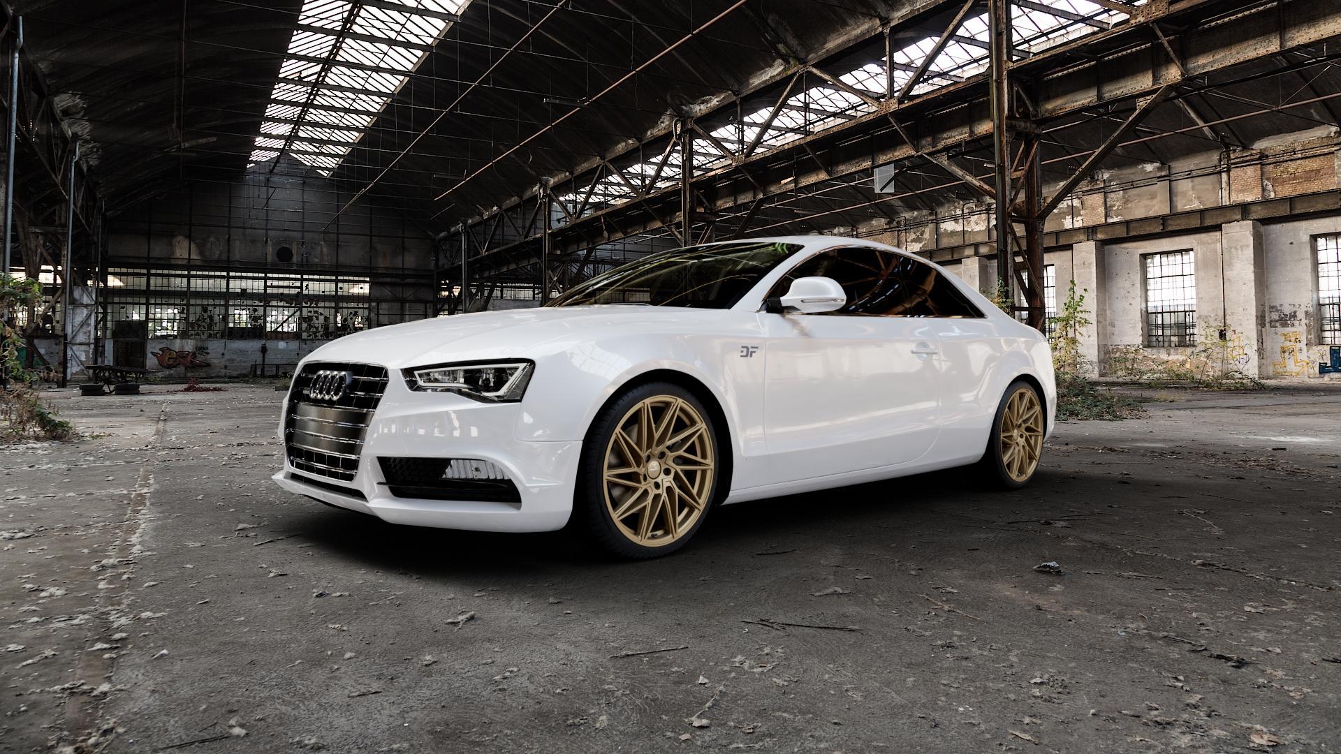 KESKIN KT20 BRONZE Felge mit Reifen in 19Zoll Winterfelge Alufelge auf weissem Audi A5 Typ B8 (Coupé) Facelift ⬇️ mit 15mm Tieferlegung ⬇️ Industriehalle 1 Camera_000