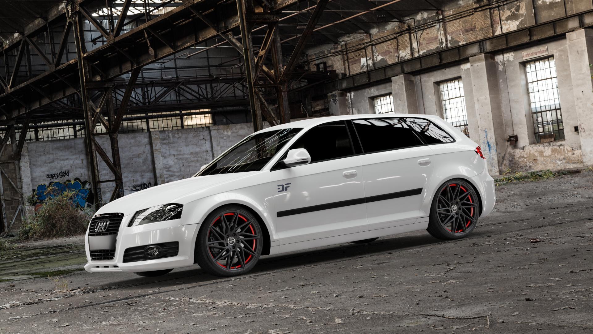 KESKIN KT20 MATT BLACK RED INSIDE Felge mit Reifen schwarz rot in 19Zoll Winterfelge Alufelge auf weissem Audi A3 Typ 8P (Sportback) 1,6l 75kW (102 PS) 2,0l FSI 110kW (150 1,9l TDI 77kW (105 103kW (140 TFSI 147kW (200 85kW (116 100kW (136 1,8l 118kW (160 125kW (170 1,4l 92kW (125 120kW (163 quattro 3,2l V6 184kW (250 S3 195kW (265 1,2l 66kW (90 18