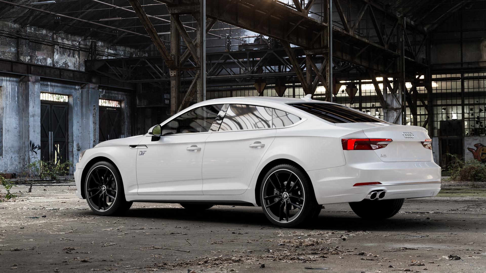 KESKIN KT21 MATT BLACK LIP POLISH Felge mit Reifen silber schwarz mehrfarbig in 19Zoll Winterfelge Alufelge auf weissem Audi A5 Typ B9 (Sportback) 2,0l TDI 140kW (190 PS) quattro TFSI 185kW (252 3,0l 160kW (218 200kW (272 1,4l 110kW (150 183kW (249 g-tron 125kW (170 Mild-Hybrid 100kW (136 210kW (286 45 180kW (245 35 40 50 170kW (231 120kW (163 30 ⬇️ mit 15mm Ti