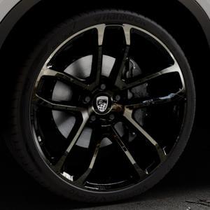 Lumma Design CLR Racing Black Smoke Felge mit Reifen schwarz in 22Zoll Winterfelge Alufelge auf silbernem BMW X6 Typ F16 (X6, X-N1) ⬇️ mit 15mm Tieferlegung ⬇️ Industriehalle 1 Thumbnail
