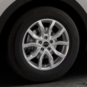 MAK Highlands Silver Felge mit Reifen silber in 16Zoll Winterfelge Alufelge auf silbernem Kia Sportage IV Typ QL QLE ⬇️ mit 15mm Tieferlegung ⬇️ Industriehalle 1 Thumbnail
