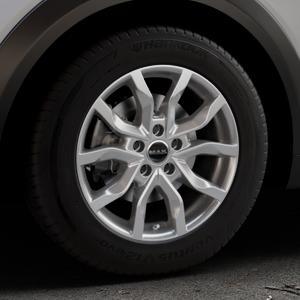 MAK Highlands Silver Felge mit Reifen silber in 16Zoll Winterfelge Alufelge auf silbernem Mazda CX-3 Typ DJ1 ⬇️ mit 15mm Tieferlegung ⬇️ Industriehalle 1 Thumbnail