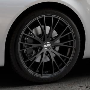 MAK Rennen Matt black Felge mit Reifen schwarz in 19Zoll Winterfelge Alufelge auf silbernem Alfa Romeo 159 Sportwagon ⬇️ mit 15mm Tieferlegung ⬇️ Industriehalle 1 Thumbnail