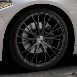 MAK Rennen Matt black Felge mit Reifen schwarz in 19Zoll Winterfelge Alufelge auf silbernem Alfa Romeo Giulia Typ 952 ⬇️ mit 15mm Tieferlegung ⬇️ Industriehalle 1 Thumbnail
