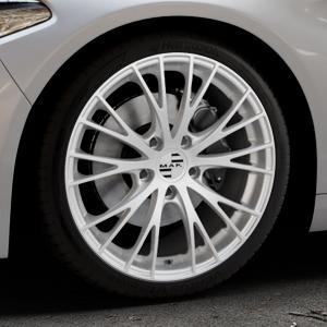 MAK Rennen Silver Felge mit Reifen silber in 19Zoll Winterfelge Alufelge auf silbernem Alfa Romeo Giulia Typ 952 ⬇️ mit 15mm Tieferlegung ⬇️ Industriehalle 1 Thumbnail