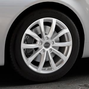 MAK Wolf Silver Felge mit Reifen silber in 17Zoll Winterfelge Alufelge auf silbernem Alfa Romeo 159 Sportwagon ⬇️ mit 15mm Tieferlegung ⬇️ Industriehalle 1 Thumbnail
