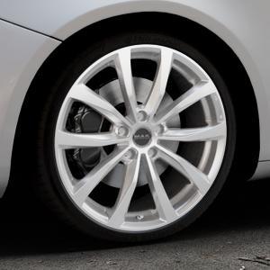 MAK Wolf Silver Felge mit Reifen silber in 19Zoll Winterfelge Alufelge auf silbernem Alfa Romeo Giulietta Typ 940 ⬇️ mit 15mm Tieferlegung ⬇️ Industriehalle 1 Thumbnail