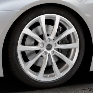 MAK Wolf Silver Felge mit Reifen silber in 20Zoll Winterfelge Alufelge auf silbernem BMW i8 Coupe (BMWi-2) ⬇️ mit 15mm Tieferlegung ⬇️ Industriehalle 1 Thumbnail
