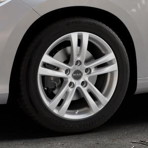 MAK Zenith Hyper silver Felge mit Reifen silber in 16Zoll Winterfelge Alufelge auf silbernem Fiat Tipo II Limousine Typ 356 ⬇️ mit 15mm Tieferlegung ⬇️ Industriehalle 1 Thumbnail