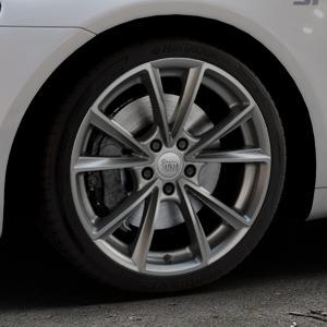 MAM A5 PALLADIUM PAINTED Felge mit Reifen grau in 18Zoll Winterfelge Alufelge auf silbernem Volkswagen (VW) Scirocco III Typ 13 ⬇️ mit 15mm Tieferlegung ⬇️ Industriehalle 1 Thumbnail