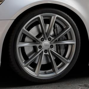 MAM A5 PALLADIUM PAINTED Felge mit Reifen grau in 20Zoll Winterfelge Alufelge auf silbernem Audi A6 Typ 4G/C7 (Limousine) ⬇️ mit 15mm Tieferlegung ⬇️ Industriehalle 1 Thumbnail