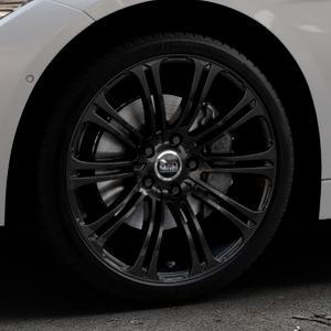 MAM B1 BLACK PAINTED Felge mit Reifen schwarz in 19Zoll Winterfelge Alufelge auf silbernem BMW 320i Typ F30 (Limousine) 328i 335i 320d 318d 316d 316i 330d xDrive EffDyn Edition 325d 335d ActiveHybrid 318i ⬇️ mit 15mm Tieferlegung ⬇️ Industriehalle 1 Thumbnail