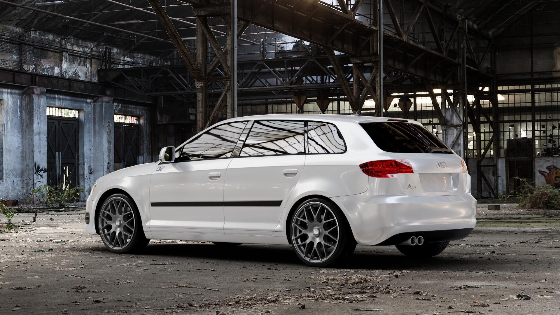 MAM GT1 PALLADIUM LIP POLISH Felge mit Reifen in 19Zoll Winterfelge Alufelge auf weissem Audi A3 Typ 8P (Sportback) 1,6l 75kW (102 PS) 2,0l FSI 110kW (150 1,9l TDI 77kW (105 103kW (140 TFSI 147kW (200 85kW (116 100kW (136 1,8l 118kW (160 125kW (170 1,4l 92kW (125 120kW (163 quattro 3,2l V6 184kW (250 S3 195kW (265 1,2l 66kW (90 18
