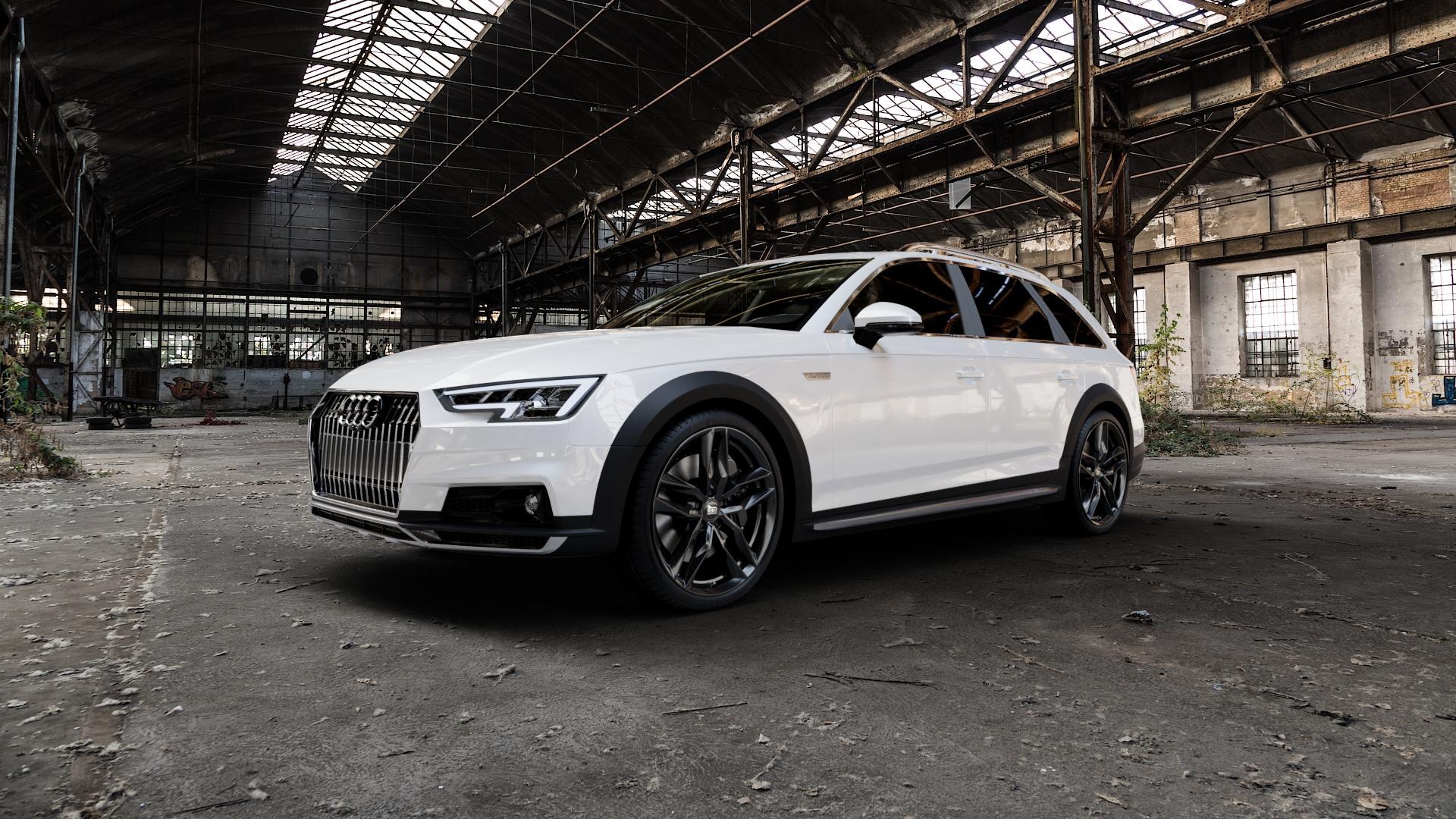 MAM RS3 BLACK PAINTED Felge mit Reifen schwarz in 20Zoll Winterfelge Alufelge auf weissem Audi A4 Typ B9 Allroad ⬇️ mit 15mm Tieferlegung ⬇️ Industriehalle 1 Camera_000