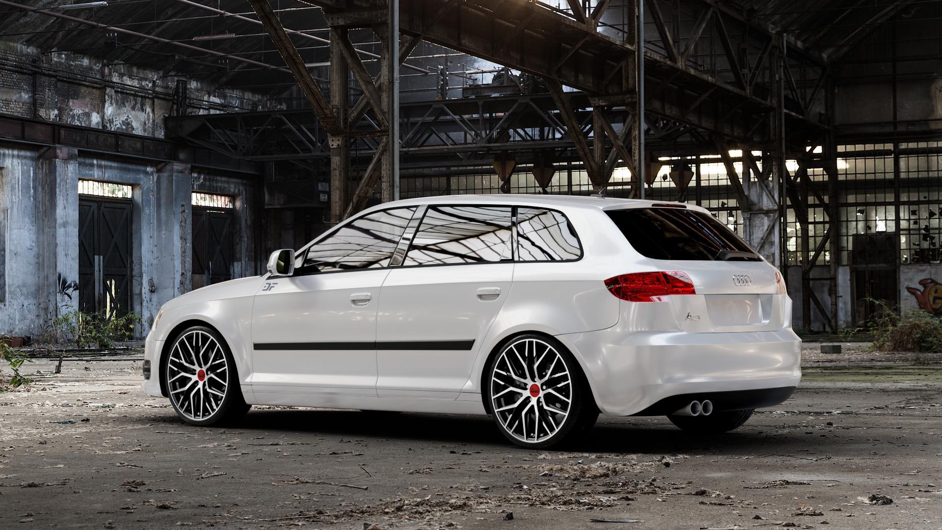 MAM RS4 BLACK FRONT POLISH Felge mit Reifen schwarz in 19Zoll Winterfelge Alufelge auf weissem Audi A3 Typ 8P (Sportback) 1,6l 75kW (102 PS) 2,0l FSI 110kW (150 1,9l TDI 77kW (105 103kW (140 TFSI 147kW (200 85kW (116 100kW (136 1,8l 118kW (160 125kW (170 1,4l 92kW (125 120kW (163 quattro 3,2l V6 184kW (250 S3 195kW (265 1,2l 66kW (90 18