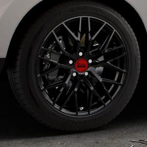 MAM RS4 BLACK PAINTED Felge mit Reifen schwarz in 18Zoll Winterfelge Alufelge auf silbernem Hyundai ix35 Typ EL ELH LM LMFC ⬇️ mit 15mm Tieferlegung ⬇️ Industriehalle 1 Thumbnail