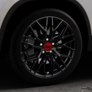 MAM RS4 BLACK PAINTED Felge mit Reifen schwarz in 18Zoll Winterfelge Alufelge auf silbernem Skoda Karoq Typ NU ⬇️ mit 15mm Tieferlegung ⬇️ Industriehalle 1 Thumbnail