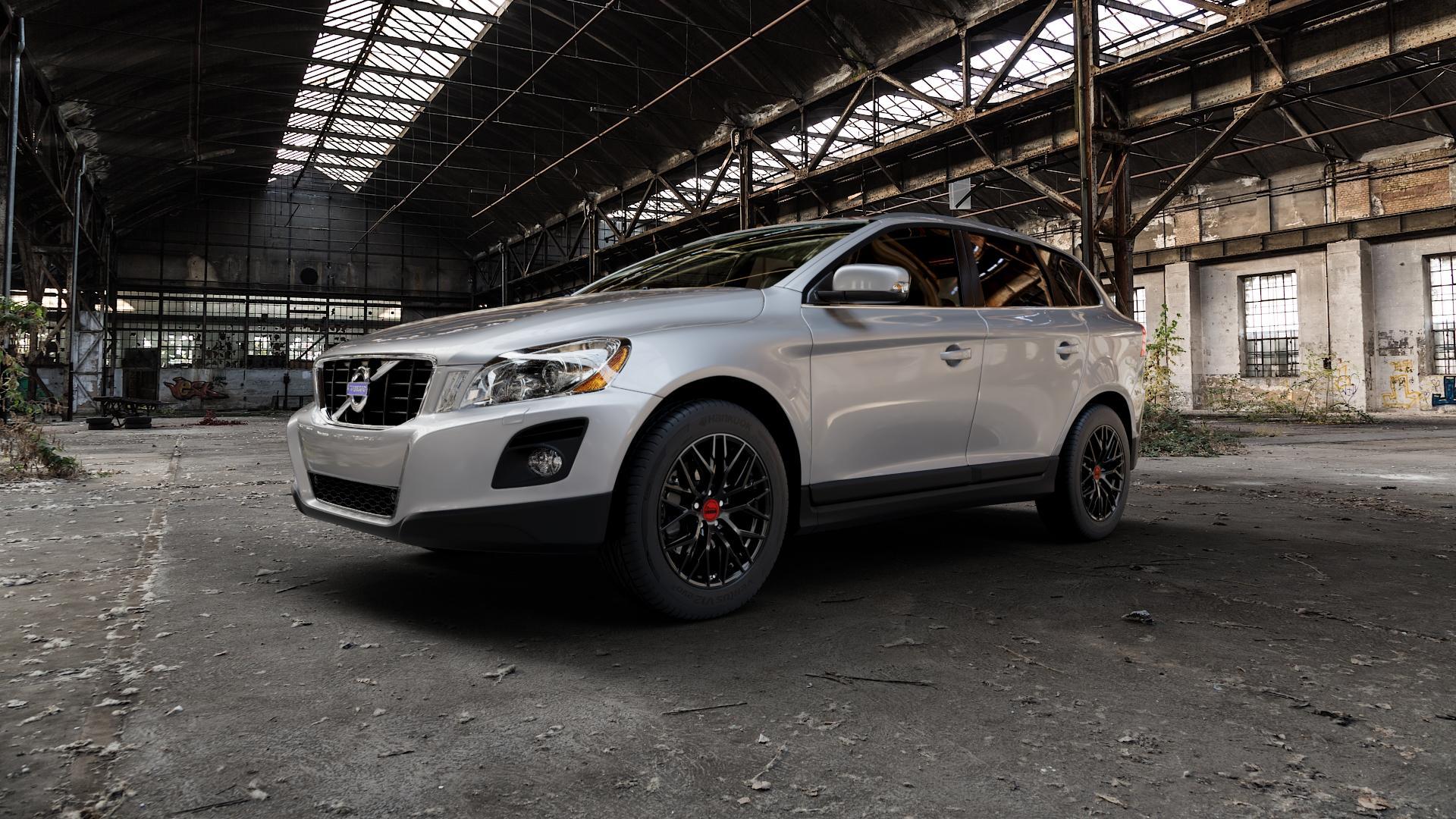 MAM RS4 BLACK PAINTED Felge mit Reifen schwarz in 18Zoll Winterfelge Alufelge auf silbernem Volvo XC60 Typ D ⬇️ mit 15mm Tieferlegung ⬇️ Industriehalle 1 Camera_000