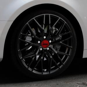 MAM RS4 BLACK PAINTED Felge mit Reifen schwarz in 19Zoll Winterfelge Alufelge auf silbernem Audi A4 Typ B9 (Limousine) ⬇️ mit 15mm Tieferlegung ⬇️ Industriehalle 1 Thumbnail