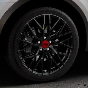 MAM RS4 BLACK PAINTED Felge mit Reifen schwarz in 19Zoll Winterfelge Alufelge auf silbernem Audi Q3 I Typ 8U Facelift ⬇️ mit 15mm Tieferlegung ⬇️ Industriehalle 1 Thumbnail