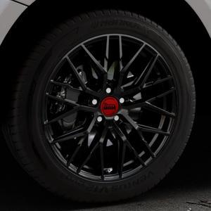 MAM RS4 BLACK PAINTED Felge mit Reifen schwarz in 19Zoll Winterfelge Alufelge auf silbernem Audi Q5 I Typ 8R ⬇️ mit 15mm Tieferlegung ⬇️ Industriehalle 1 Thumbnail