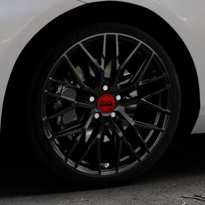 MAM RS4 BLACK PAINTED Felge mit Reifen schwarz in 19Zoll Winterfelge Alufelge auf silbernem BMW 214d Typ F2AT (F45 Active Tourer) 216d 216i 218d 218i 220d xDrive 220i 225i 225xe ⬇️ mit 15mm Tieferlegung ⬇️ Industriehalle 1 Thumbnail