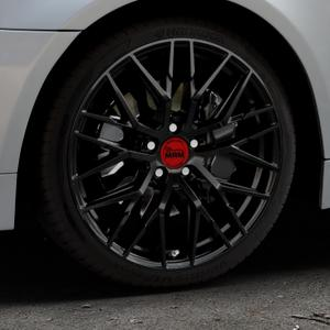 MAM RS4 BLACK PAINTED Felge mit Reifen schwarz in 19Zoll Winterfelge Alufelge auf silbernem BMW 520i Typ E60 (Limousine) 525i 530i 530d 525d 535d 545i 523i 540i 550i 520d 525xd 530xd 530xi 525xi ⬇️ mit 15mm Tieferlegung ⬇️ Industriehalle 1 Thumbnail