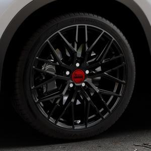 MAM RS4 BLACK PAINTED Felge mit Reifen schwarz in 19Zoll Winterfelge Alufelge auf silbernem BMW X1 Typ F48 (UKL-L) (F1X) ⬇️ mit 15mm Tieferlegung ⬇️ Industriehalle 1 Thumbnail