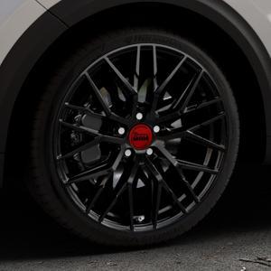 MAM RS4 BLACK PAINTED Felge mit Reifen schwarz in 19Zoll Winterfelge Alufelge auf silbernem Kia Niro Typ DE ⬇️ mit 15mm Tieferlegung ⬇️ Industriehalle 1 Thumbnail