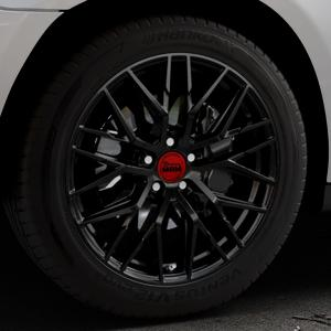 MAM RS4 BLACK PAINTED Felge mit Reifen schwarz in 19Zoll Winterfelge Alufelge auf silbernem Mercedes M-Klasse Typ W164 ⬇️ mit 15mm Tieferlegung ⬇️ Industriehalle 1 Thumbnail