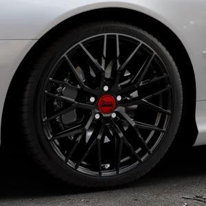 MAM RS4 BLACK PAINTED Felge mit Reifen schwarz in 19Zoll Winterfelge Alufelge auf silbernem Mercedes SL Typ R230 ⬇️ mit 15mm Tieferlegung ⬇️ Industriehalle 1 Thumbnail
