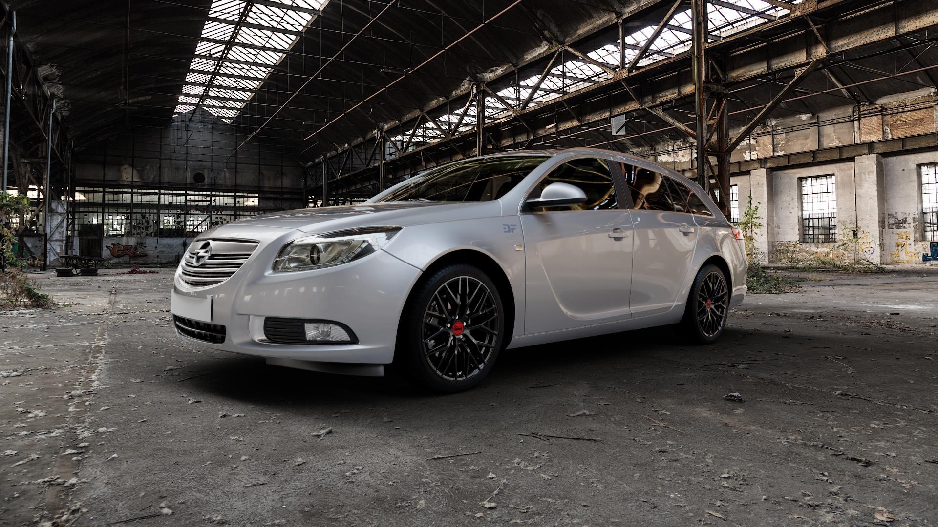 MAM RS4 BLACK PAINTED Felge mit Reifen schwarz in 19Zoll Winterfelge Alufelge auf silbernem Opel Insignia I Sports Tourer Facelift ⬇️ mit 15mm Tieferlegung ⬇️ Industriehalle 1 Camera_000