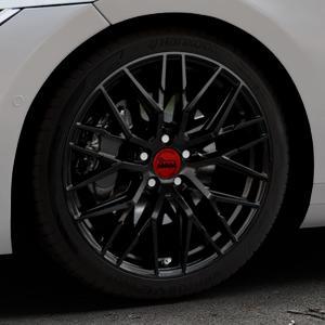 MAM RS4 BLACK PAINTED Felge mit Reifen schwarz in 19Zoll Winterfelge Alufelge auf silbernem Volkswagen (VW) Arteon Typ 3H ⬇️ mit 15mm Tieferlegung ⬇️ Industriehalle 1 Thumbnail