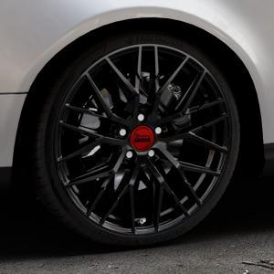 MAM RS4 BLACK PAINTED Felge mit Reifen schwarz in 19Zoll Winterfelge Alufelge auf silbernem Volkswagen (VW) Passat 3C/B6 Variant ⬇️ mit 15mm Tieferlegung ⬇️ Industriehalle 1 Thumbnail
