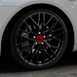 MAM RS4 BLACK PAINTED Felge mit Reifen schwarz in 19Zoll Winterfelge Alufelge auf silbernem Volkswagen (VW) Scirocco III Typ 13 ⬇️ mit 15mm Tieferlegung ⬇️ Industriehalle 1 Thumbnail