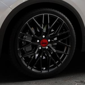 MAM RS4 BLACK PAINTED Felge mit Reifen schwarz in 19Zoll Winterfelge Alufelge auf silbernem Volkswagen (VW) T-Roc ⬇️ mit 15mm Tieferlegung ⬇️ Industriehalle 1 Thumbnail