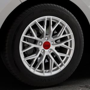 MAM RS4 MATT SILVER PAINTED Felge mit Reifen silber in 18Zoll Winterfelge Alufelge auf silbernem Ford Edge Typ SBF ⬇️ mit 15mm Tieferlegung ⬇️ Industriehalle 1 Thumbnail
