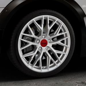 MAM RS4 MATT SILVER PAINTED Felge mit Reifen silber in 18Zoll Winterfelge Alufelge auf silbernem Mini F54 Typ UKL-L (Clubman) FMK ⬇️ mit 15mm Tieferlegung ⬇️ Industriehalle 1 Thumbnail